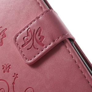 Butterfly pouzdro na mobil Sony Xperia XA - růžové - 5