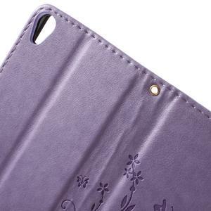 Butterfly pouzdro na mobil Sony Xperia XA - fialové - 5