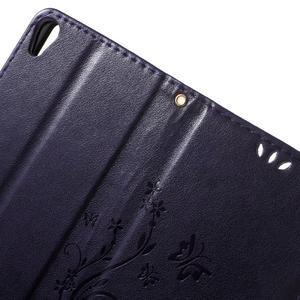 Butterfly pouzdro na mobil Sony Xperia XA - tmavěfialové - 5