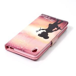 Emotive PU kožené knížkové pouzdro na Sony Xperia XA - přej si něco - 5