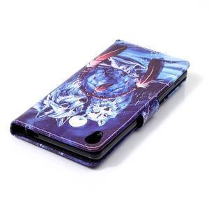 Emotive PU kožené knížkové pouzdro na Sony Xperia XA - mýtičtí vlci - 5