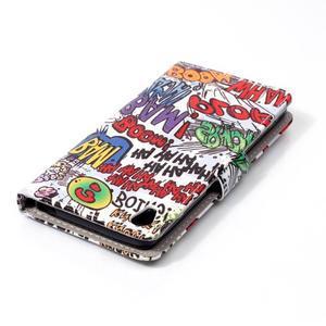 Emotive PU kožené knížkové pouzdro na Sony Xperia XA - boom - 5