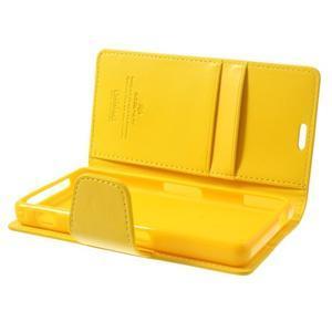 Sonata PU kožené pouzdro na mobil Sony Xperia Z1 Compact - žluté - 5