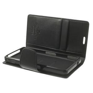 Sonata PU kožené pouzdro na mobil Sony Xperia Z1 Compact - černé - 5