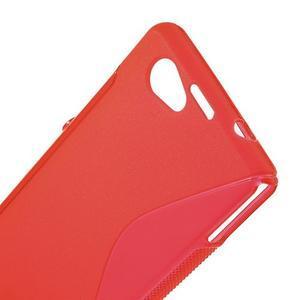 Gelové S-line pouzdro na Sony Xperia Z1 Compact - červené - 5