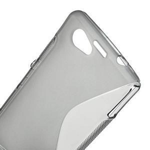 Gelové S-line pouzdro na Sony Xperia Z1 Compact - šedé - 5