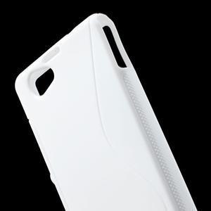 Gelové S-line pouzdro na Sony Xperia Z1 Compact - bílé - 5