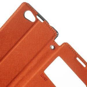 Okýnkové pouzdro na mobil Sony Xperia Z1 Compact - oranžové - 5
