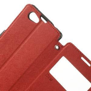 Okýnkové pouzdro na mobil Sony Xperia Z1 Compact - červené - 5