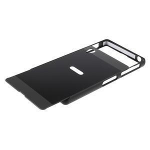 Kovový kryt s plastovými zády na Sony Xperia Z1 - černý - 5