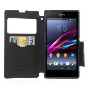 Okýnkové pouzdro na mobil Sony Xperia Z1 - tmavěmodré - 5