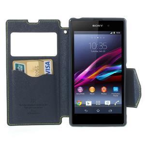 Okýnkové pouzdro na mobil Sony Xperia Z1 - zelené - 5