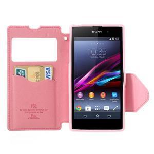 Okýnkové pouzdro na mobil Sony Xperia Z1 - rose - 5