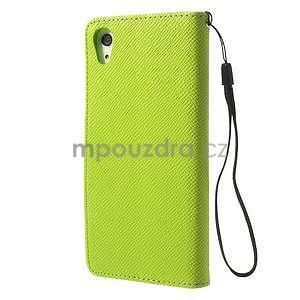 Stylové peněženkové pouzdro na Sony Xperia Z2 - zelené - 5