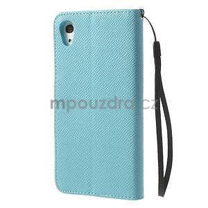 Stylové peněženkové pouzdro na Sony Xperia Z2 - světle modré - 5