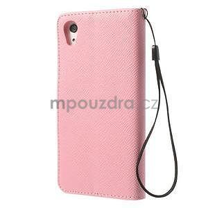 Stylové peněženkové pouzdro na Sony Xperia Z2 - růžové - 5