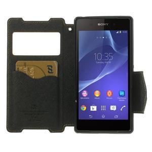 Okýnkové pouzdro na mobil Sony Xperia Z2 - žluté - 5