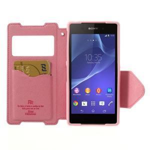 Okýnkové pouzdro na mobil Sony Xperia Z2 - rose - 5