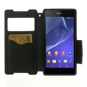 Okýnkové pouzdro na mobil Sony Xperia Z2 - černé - 5