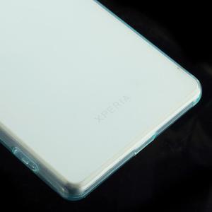 Ultratenký slim gelový obal na mobil Sony Xperia Z2 - cyan - 5
