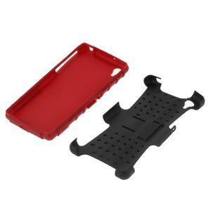 Outdoor odolný kryt na mobil Sony Xperia Z2 - červený - 5
