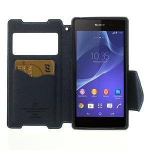 Okýnkové pouzdro na mobil Sony Xperia Z2 - světlemodré - 5
