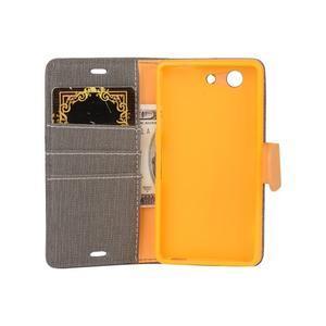 Texture pouzdro na mobil Sony Xperia Z3 Compact - šedé - 5