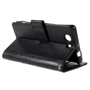 Butterfly PU kožené pouzdro na mobil Sony Xperia Z3 Compact - černé - 5
