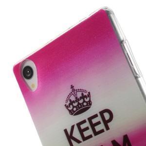 Ultratenký gelový obal na mobil Sony Xperia Z3 - Keep Calm - 5