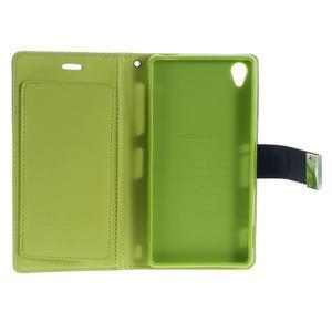 Luxury PU kožené pouzdro na mobil Sony Xperia Z3 - tmavěmodré - 5