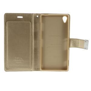 Luxury PU kožené pouzdro na mobil Sony Xperia Z3 - champagne - 5