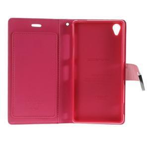 Luxury PU kožené pouzdro na mobil Sony Xperia Z3 - růžové - 5