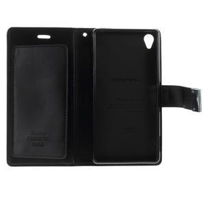 Luxury PU kožené pouzdro na mobil Sony Xperia Z3 - černé - 5