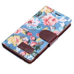 Květinové pouzdro na mobil Sony Xperia Z3 - modré - 5
