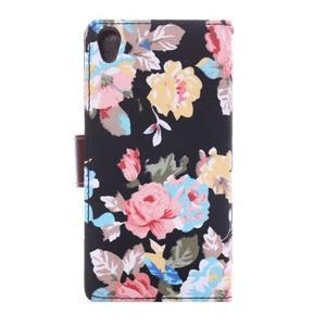 Květinové pouzdro na mobil Sony Xperia Z3 - černé - 5
