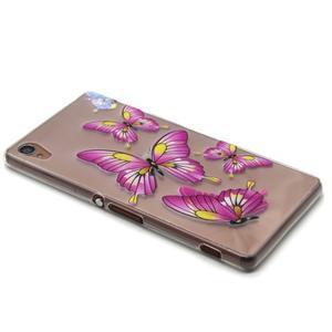 Gelový obal na mobil Sony Xperia Z3 - motýlkové - 5