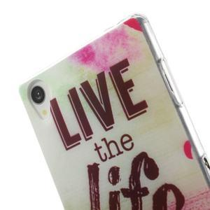 Ultratenký gelový obal na mobil Sony Xperia Z3 - love - 5
