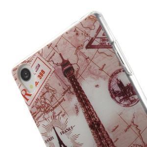 Ultratenký gelový obal na mobil Sony Xperia Z3 - Eiffelova věž - 5