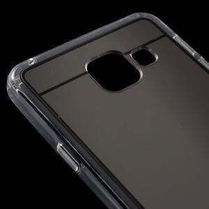 Zrcadlový gelový kryt na Samsung Galaxy A3 (2016) - černý - 5