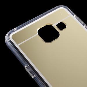 Zrcadlový gelový kryt na Samsung Galaxy A3 (2016) - zlatý - 5