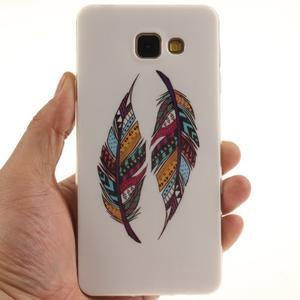 Silk gelový kryt na mobil Samsung Galaxy A3 (2016) - peříčka - 5