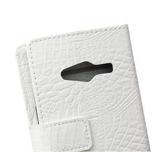 Croco peněženkové pouzdro na Samsung Galaxy Trend 2 Lite - bílé - 5