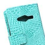 Croco peněženkové pouzdro na Samsung Galaxy Trend 2 Lite - cyan - 5/7