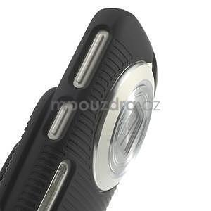 Odolný pogumovaný kryt se stojánkem na Samsung Galaxy K Zoom - černý - 5