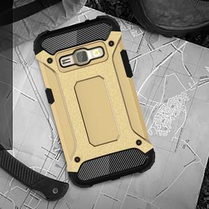 Armory odolný obal na mobil Samsung Galaxy J1 (2016) - zlatý - 5