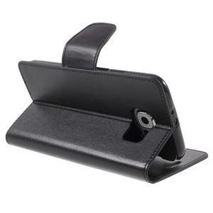Diary PU kožené pouzdro na mobil Samsung Galaxy S6 -černé - 5