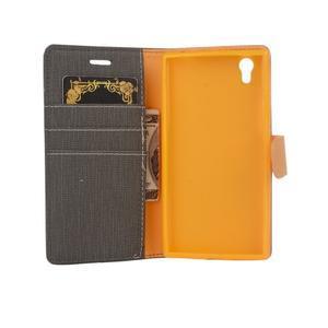 Cloth textilní/koženkové pouzdro na mobil Lenovo P70 - černé - 5