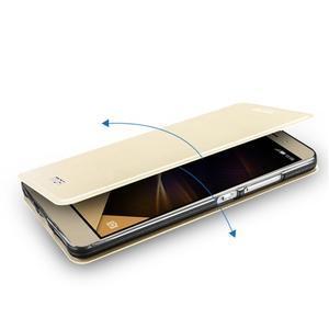 Elegantní PU kožené pouzdro na mobil Huawei Honor 7 - gold - 5