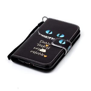 Peněženkové pouzdro na Samsung Galaxy S4 Mini - do not touch - 5
