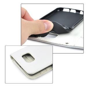 Croco motiv koženkového pouzdra na Samsung Galaxy S6 - bílé - 5